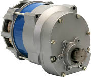 Single-phase induction motors with helical gearbox J46X